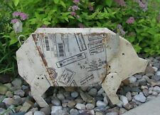 Metal Pig Sculpture*Primitive Home/French Country Barn Farmhouse Decor*New!