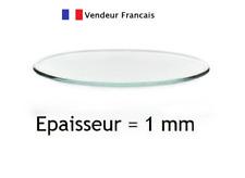Verres de montres minéraux, plats, épaisseur 1 mm, diamètre de 16,0 mm  à 50,0mm