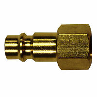 "Accepts A,M/&V Style Plugs Milton 765 1//4/"" MNPT Coupler/""V/""Style HI-FLOW Brass"