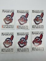 Lot of 6 1992 Cleveland Indians MLB Baseball Pocket Schedules - Chief Wahoo