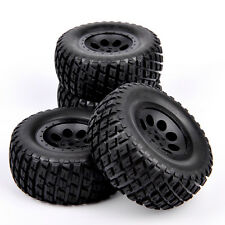 4X 1:10 Short Course Truck Tires &Wheel 12mm Hex For TRAXXAS SlASH RC Car 02&04