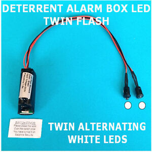 Deterrent Alarm Box LEDs Twin Flash/Alternating WHITE LED's 10 yr Battery Fitted