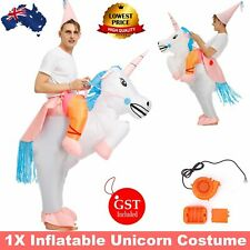 Inflatable Costume Suit Adult Ride Unicorn Novelty Fancy Dress Party Outfit Fan