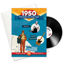 68th Birthday | Anniversary Gift -1950 4-In-1 CD Card - Story of Your Year