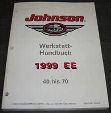 Werkstatthandbuch Johnson Boot Motor 40 PS - 70 PS Reparaturanleitung Stand 1999