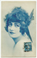 c 1920 French Glamour LOVELY WOMAN Pretty Lady photo postcard