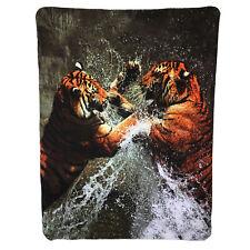 3D Digitaldruck Fleecedecke Tigron Tiger Wohndecke Kuscheldecke Tier 130x170 cm