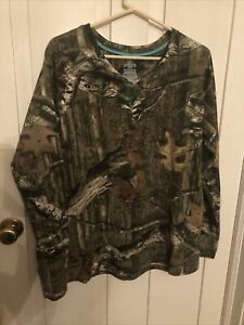 Mossy Oak Break Up Infinity Long Sleeve V Neck Camo Shirt 2XL
