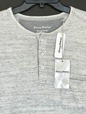 Tommy Bahama Men's XL Coastal Canyon Henley Shirt Long Sleeve Grey $94.50 NEW