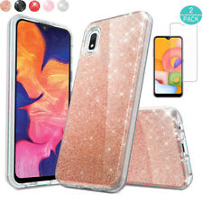 For Samsung Galaxy A01 Shock-resistant Bumper Rugged Case Cover+Screen Protector