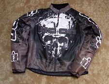 Icon Hooligan Decay Skull Black Threshold Motorcycle Jacket Mens Size Large