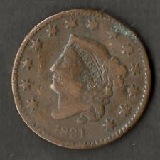 USA Large Size Copper One Cent 1831 NVF Large Letters