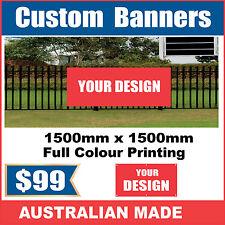 Custom Outdoor Vinyl Banner Sign - 1500mm x 1500mm - Australian Made