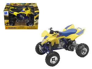 SUZUKI QUAD RACER R450 ATV YELLOW & BLUE 1/12 DIECAST MODEL BY NEW RAY 43393