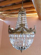 Lustre montgolfière ancien pampilles old chandelier ø 30 cm