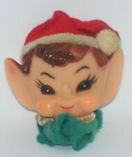 Vintage Christmas Pixie Elf Head Light Cover Ornament Mid Century Japan P1