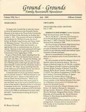 GROUND - GROUNDS FAMILY ASSOCIATION NEWSLETTER JULY 1991