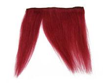 "CLIP-IN HUMAN HAIR FRINGE BANGS CYBERLOX BURGUNDY RED UNCUT 8"""