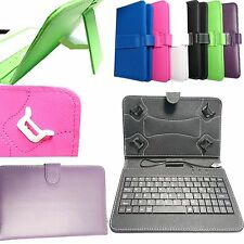 """PU Leather Keyboard Case Cover for Amazon Kindle Fire 7"""" 8"""" HD Tablet 2017 Model"""