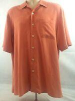 Mens M Camp Hawaiian Shirt Coral Orange NWOT