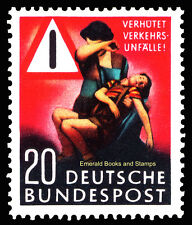 EBS Germany 1953 Road Accident Prevention Unfallverhütung Michel 162 MNH**