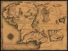 Middle Earth Map - Counted Cross Stitch Patterns Needlework for embroidery