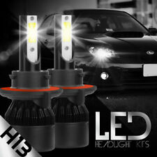 H13 9008 255000LM LED Headlight Bulb Kits 6000K Hi/Lo Dual BEAM + Canbus Decoder