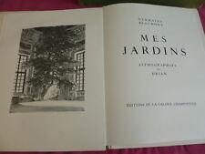 MES JARDINS Germaine Beaumont Lithographies de Drian Ex numéroté