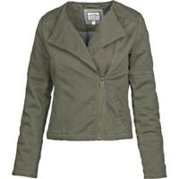 Fat Face - Women's - Coombe Twill Biker Jacket - Green/Khaki - BNWT