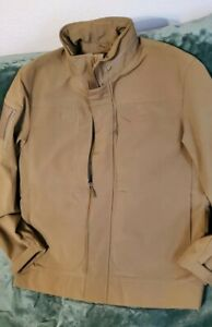 NWOT Beretta Tan Hunting Jacket Roll Up Hood, Pockets  Men's L MSRP $389