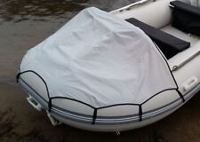 INFLATABLE BOAT FRONT BOW CANOPY FOR UP TO 3.8M *GREY*  FIT EUROPA HONDA ZODIAC