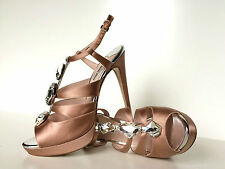 Miu Miu by PRADA Stilettos Strass Satin  Pumps High Heels 40,