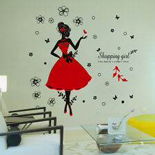Girls Flower Removable Wall Art Stickers Vinyl Decal Room Home Mural Decor DIY