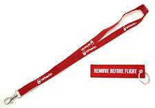 BUNDLE: AIR BERLIN Lanyard & REMOVE BEFORE FLIGHT ® - Schlüsselanhänger in Rot