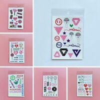 1Sheet BLACKPINK TWICE IZONE SEVENTEEN EXO Glitter Temporary Tattoo Stickers DIY