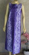 VTG SUN BABIES Tropical Hawaiian Dress NOS Purple Maxi