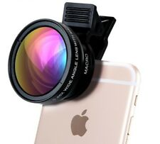 Phone Lens 0.45X Wide Angle+12.5X Macro HD Camera For IPhone Xiaomi Samsung LG