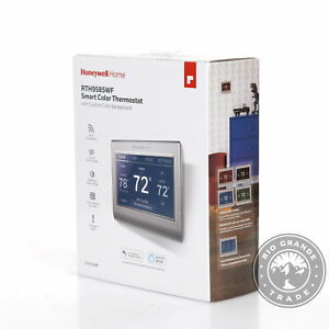 OPEN BOX Honeywell Home RTH9585WF1004 WiFi Smart Color Thermostat in Gray