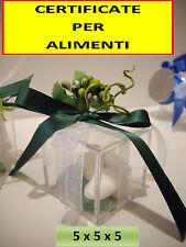 25 SCATOLA PLEXIGLASS bomboniera MATRIMONIO LAUREA CONFETTI  scatolina