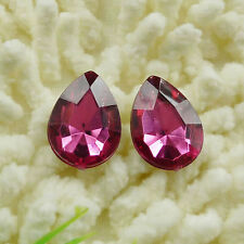 140 pieces acrylic Flatback Rhinestone Faceted drip Gems 18x13mm No Hole  ZH114