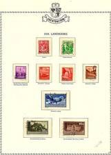 Liechtenstein:333 different stamps (1934-71) see list
