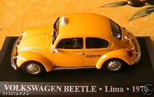 VOLKSWAGEN BEETLE TAXI LIMA PEROU 1970 1/43 JAUNE NEUF