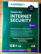 Kaspersky Internet Security 2013 PC Mac Android IOS Factory Sealed 3 Devices New
