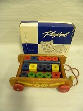 Vintage Playskool Col-O-Rol Wagon Pull Toy Model No.303 With Original Box (A15)