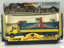 VINTAGE CORGI NO:1164 DOLPHINARIUM BERLIET LORRY TRUCK & TRAILER,DOLPHINS,BOXED