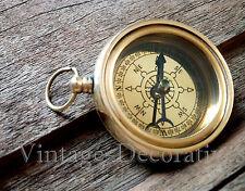 Solid Brass Compass Antique Design Marine Nautical Compass Vintage Ship Compass