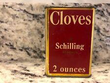 Vintage A Schilling & Co of San Francisco Spice Tin copyright 1933 Cloves 2 ozs