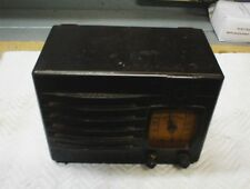Vintage 1939 Detrola AM Bakelite Tube Radio model # 283