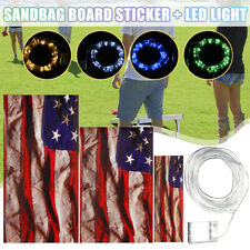 Cornhole Board Decal Sand Bag Toss Game Self Adhesive Sticker / Led Bright Light