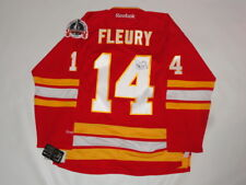 THEO FLEURY SIGNED CALGARY FLAMES 1989 STANLEY CUP JERSEY PROOF JSA COA